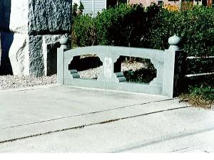 石の欄干のオブジェ